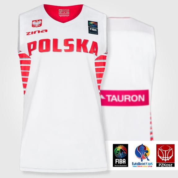 50af7d08d30a5f Koszulka koszykarska reprezentacji Polski 2015 ZINA sklep
